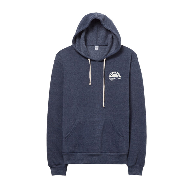 Hoodie - Eco-Fleece - Sunshine - Navy Blue
