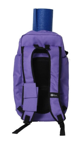 Yoga Sak Purple Heart Back View