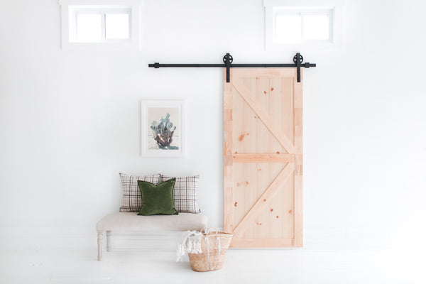 6 Foot 7 Inch Big Wheel Barn Door Hardware Kit