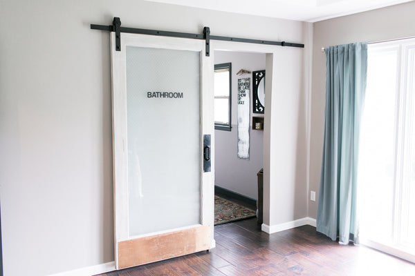 8 Foot Sliding Barn Door Hardware Black Industrial By
