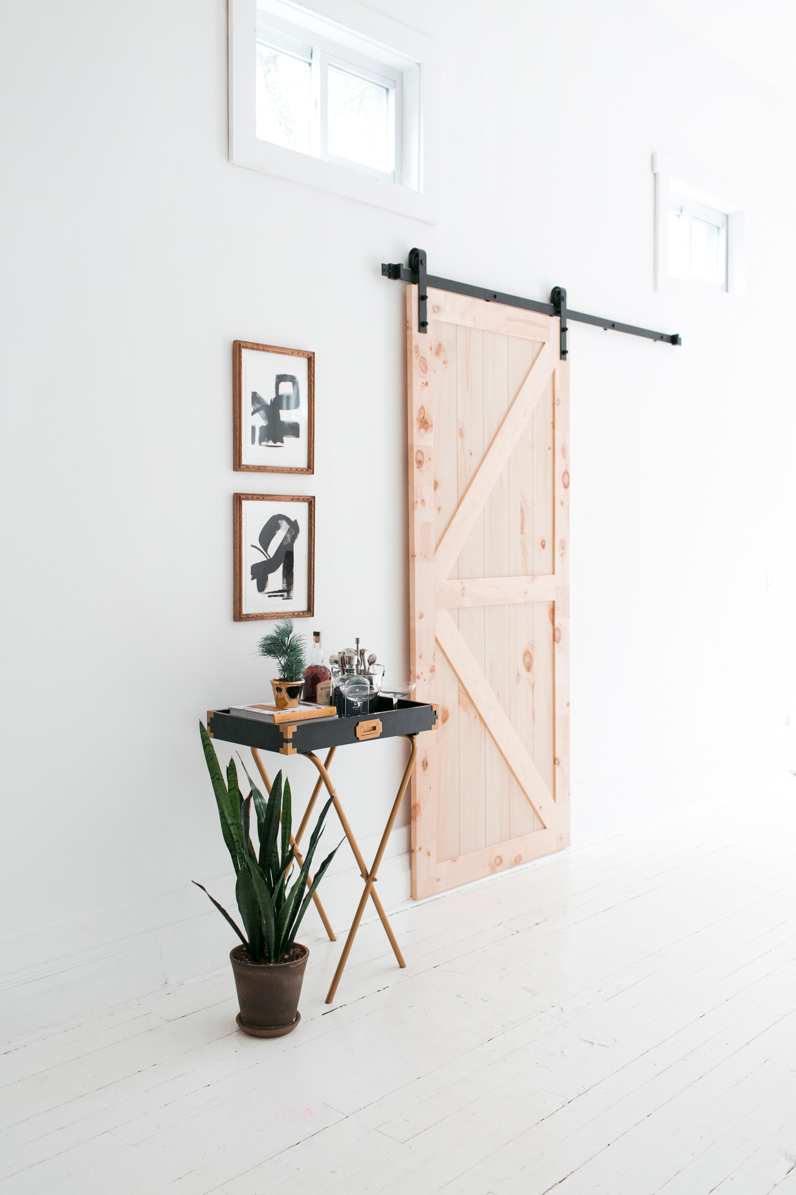 6 Foot 7 Inch Barn Door Hardware Kit. 2 Reviews