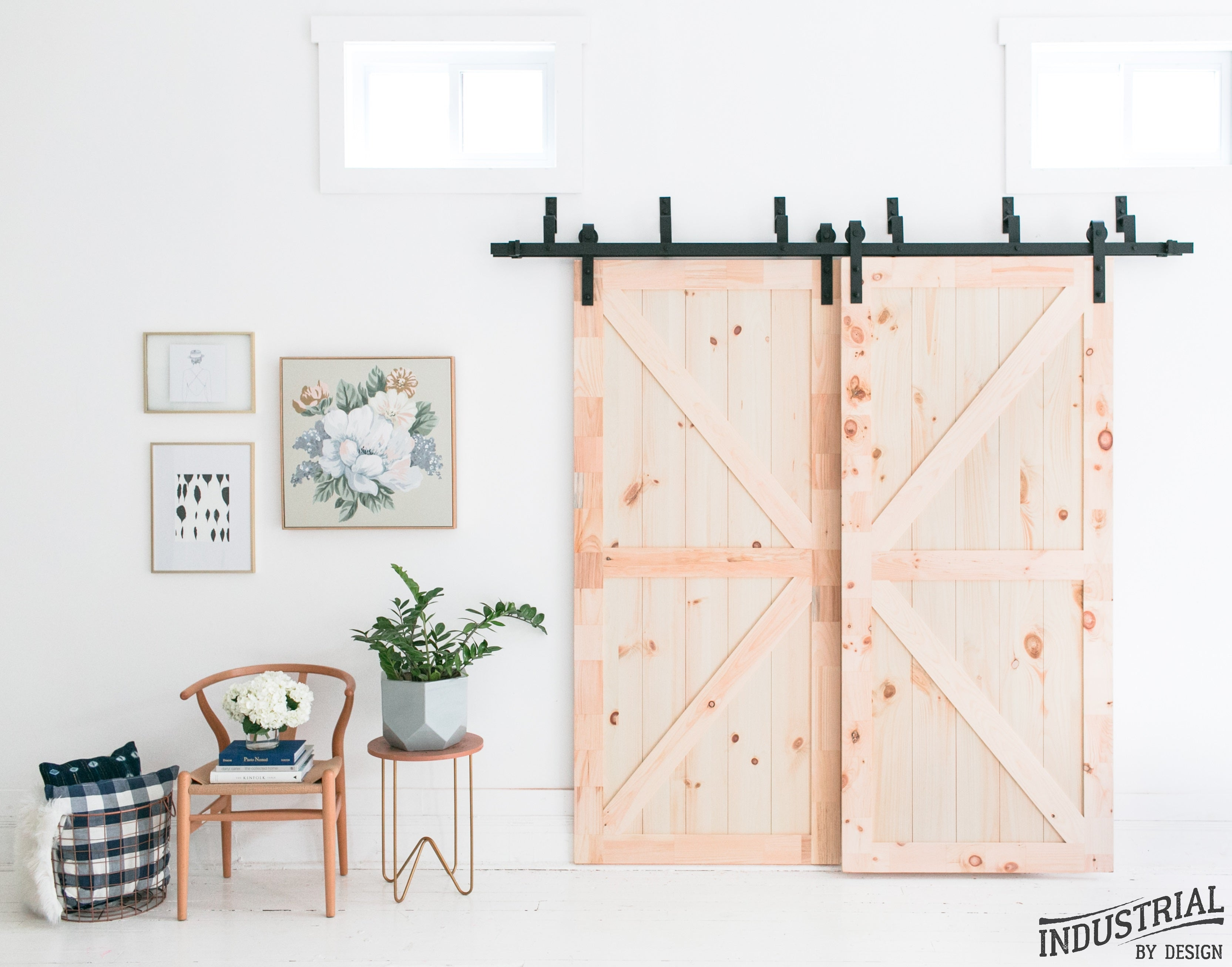 Superbe 8 Foot Bypass Barn Door Hardware Kit