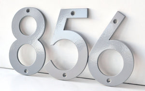 Coastal Grey Powder Coated Aluminum Numbers
