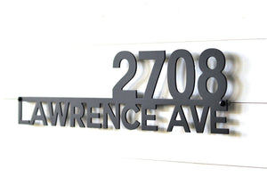 Modern Underline Aluminum Address Sign