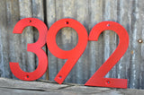 Red Powder Coated Aluminum Numbers with matching screws