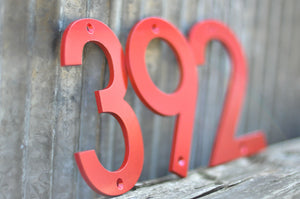 Powder Coated Red House Number