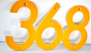 Honey Yellow Powder Coated Aluminum Numbers
