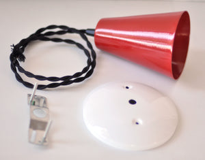 Pendant Light Kit- Red