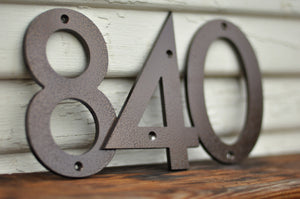 Weathered Copper Powder Coated Aluminum Numbers