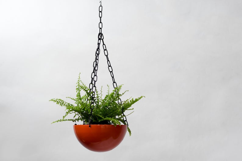 Half Dome- Hanging Metal Planter