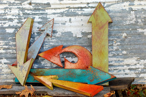 Rusted Metal Arrow