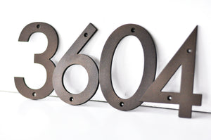 Oil Rubbed Bronze Powder Coated Aluminum Numbers