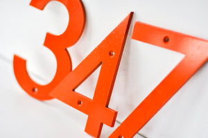 Burnt Orange Powder Coated Aluminum Numbers