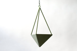 Pyramid Planter. Geometric Hanging Wall Planter