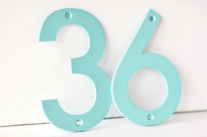 Sea Foam Powder Coated Aluminum Numbers