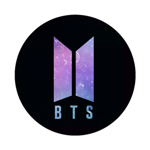 [BTS] BLACK GALAXY LOGO POP HOLDER