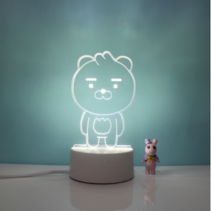 Ryan Bear And Peach Lamps