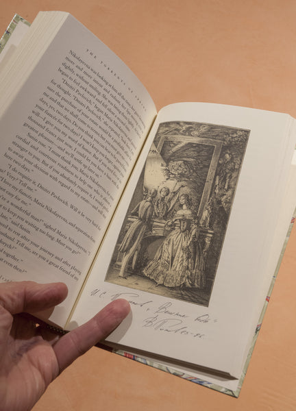 Popov Etchings and Ivan Turgenev Book