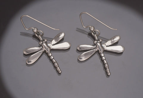 Dragonfly Earrings, Sterling Silver