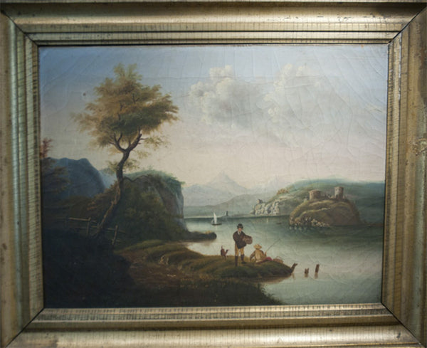 Antique painting, possibly English--or possibly not!