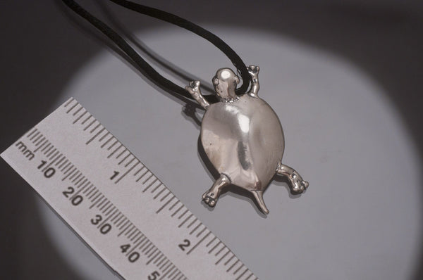 Large Turtle Pendant, Sterling Silver