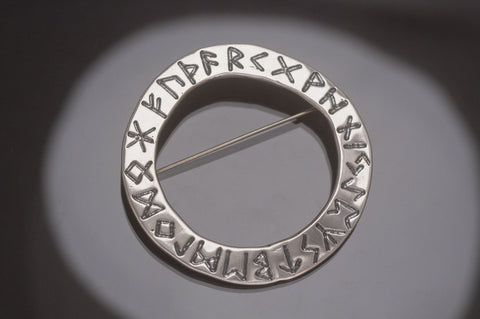 Rune Pin Sterling Silver