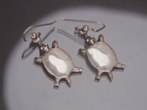 Turtle Earrings, Sterling Silver