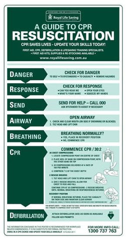 Poster - CPR Adult (PVC)