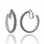 Sterling Silver Hoop Earring Clips With Black Spinel