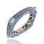 MCL Design Sterling Silver Statement Bangle With Blue Glitter Enamel & Blue Sapphires
