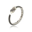 Sterling Silver Bangle Bracelet With White Enamel & Black Spinel