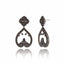 Sterling Silver Statement Earrings With Black Spinel & Black Onyx
