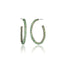 Sterling Silver Hoop Earrings With Tsavourite