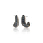 Sterling Silver Statement Earrings With Black Spinel