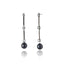 Sterling Silver Statement Earrings With Black Spinel, White Topaz & Black Onyx Beads