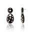Dark Natural Horn Statement Earrings with Sterling Silver & White Pearls
