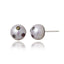 Sterling Silver Stud Earrings with Mixed Sapphires & White Pearls