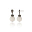 Sterling Silver Statement Earrings With Mixed Sapphires & White Agate Beads