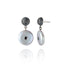Sterling Silver Statement Earrings With Black Spinel & Silver Pearl