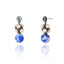 Sterling Silver Statement Earrings with Blue Topaz, White Pearl & Blue Agate Beads