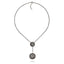 Black Rhodium Plated Sterling Statement Necklaces Set With Black Spinel and White Topaz