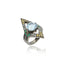 Sterling Silver Stack Ring With Yellow Sapphire, Blue Sapphire, Green Agate, Black Spinel & Blue Topaz