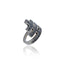 Sterling Silver Stack Ring With Black Spinel