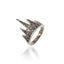 Black Rhodium Plated Sterling Stack Ring Set With Black Spinel
