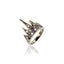Sterling Silver Stack Ring Black Spinel & White Topaz