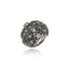 Sterling Silver Statement Ring With Black Spinel & White Zircon