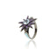 Sterling Silver Statement Ring With Baby Blue Enamel, Amethyst & Blue Topaz