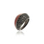 Sterling Silver Statement Ring With Metallic Rust Enamel & Black Spinel