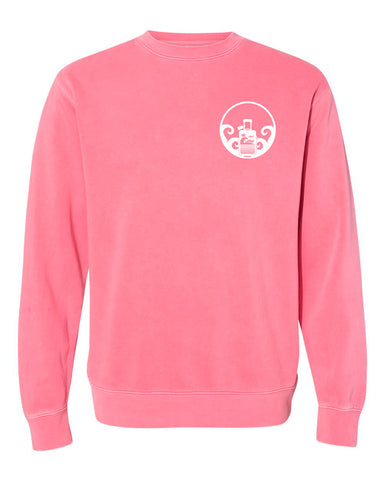 SOJOURNEY TRAVEL - Pigment Dyed Crew Neck Sweatshirt
