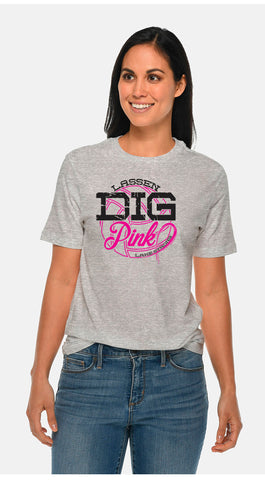 "Lassen Volleyball - NCCA FUNDRAISER - ""Dig Pink"" - Gray Tee"
